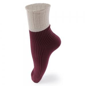 Casual Solid Color Turn Down Elastic Band Socks for Women