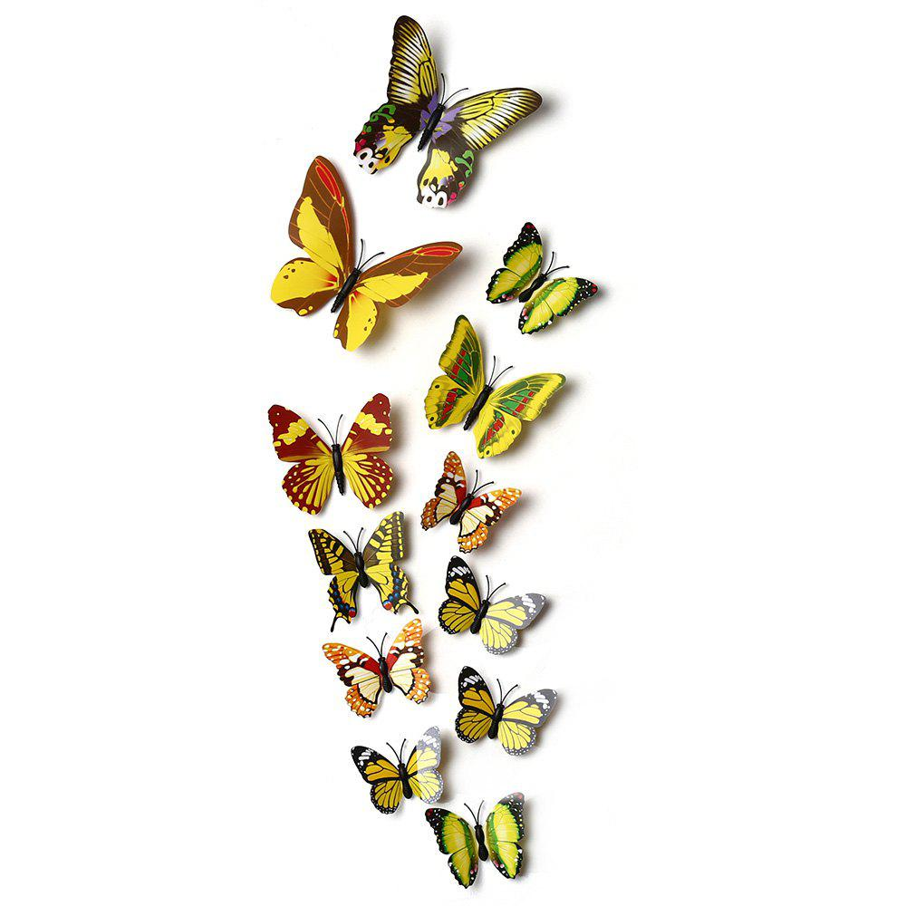 Discount 12pcs 3D Butterfly Wall Decor Stickers for Living Room Bedroom Office Decorations