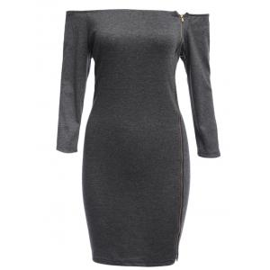 Sexy Off The Shoulder Sheath Women Mini Dress