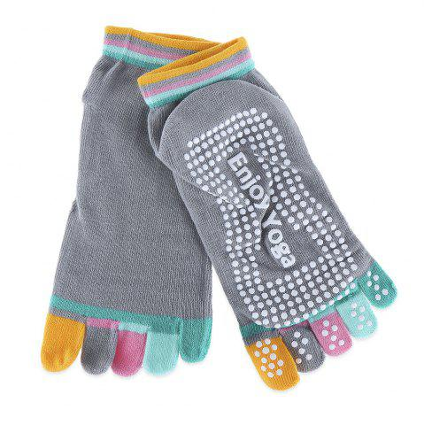 Shops Yoga Socks Non-slip Skid with Full Toe Grips - GRAY  Mobile