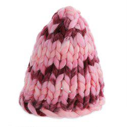 Fashion Winter Monochromatic Warm Knit Cap Thick Stick knitted Hat for Women