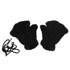 Cute Bear Claw Design Open Finger Thickening Warm Gloves for Women
