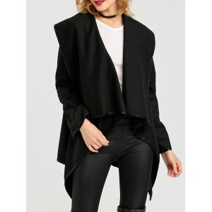 Long Sleeve Long Woolen Cardigan Type Coat