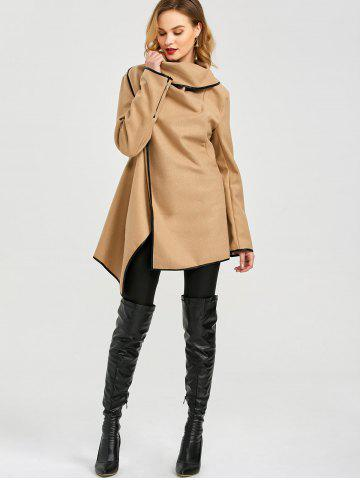 Outfit Long Sleeve Long Woolen Cardigan Type Coat - CAMEL 2XL Mobile