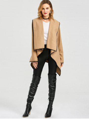 Outfit Long Sleeve Long Woolen Cardigan Type Coat - CAMEL 3XL Mobile