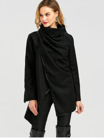 Outfit Long Sleeve Long Woolen Cardigan Type Coat - BLACK 2XL Mobile