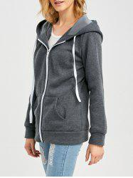 Casual Hooded Zipper Type Women Hoodie