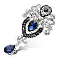 Water Drop Fake Crystal Rhinestoned Brooch