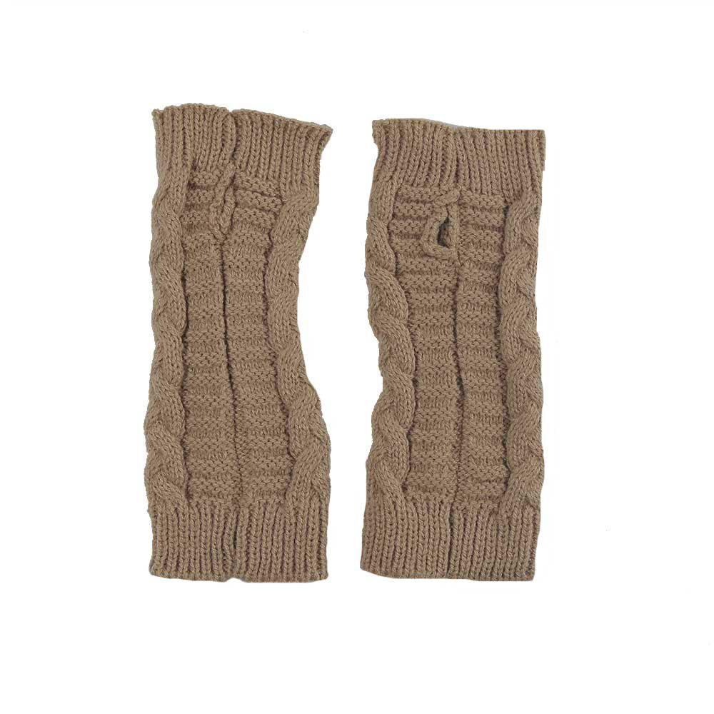 [19% OFF] Winter Open Finger Solid Color Warm Knitted
