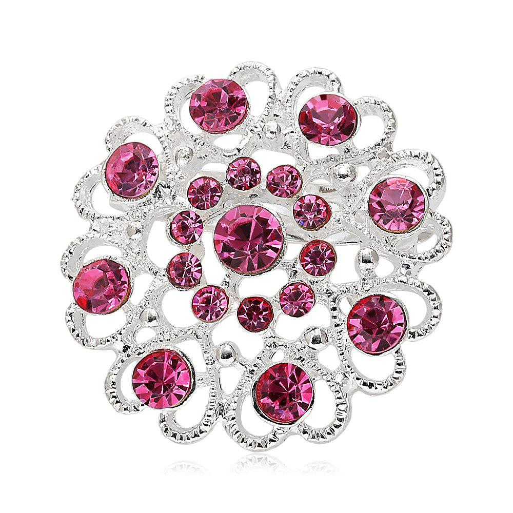 Hollow Out Rhinestoned Flower Shape BroochJEWELRY<br><br>Color: PINK; Brooch Type: Brooch; Gender: For Women; Style: Trendy; Shape/Pattern: Heart; Weight: 0.030kg; Package weight: 0.030 kg; Product size (L x W x H): 3.20 x 3.20 x 1.20 cm / 1.26 x 1.26 x 0.47 inches; Package size (L x W x H): 5.00 x 5.00 x 1.30 cm / 1.97 x 1.97 x 0.51 inches; Package Contents: 1 x Brooch;
