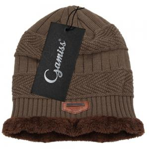 Winter Pure Color Warm Inside Knitted Hat for Men -