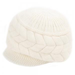Winter Solid Color Ear Protection Warm Knitted Cricket Cap for Women