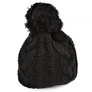 Winter Venonat Decoration Warm Knitted Hat for Unisex - Black