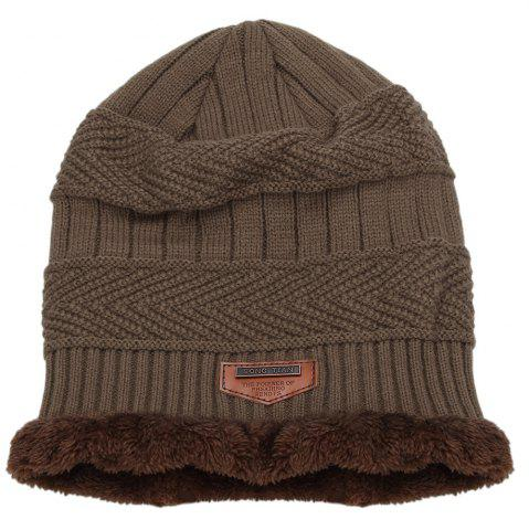 Hot Winter Pure Color Warm Inside Knitted Hat for Men