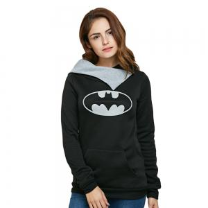 Casual Hooded Long Sleeve Print Pocket Design Women Hoodie
