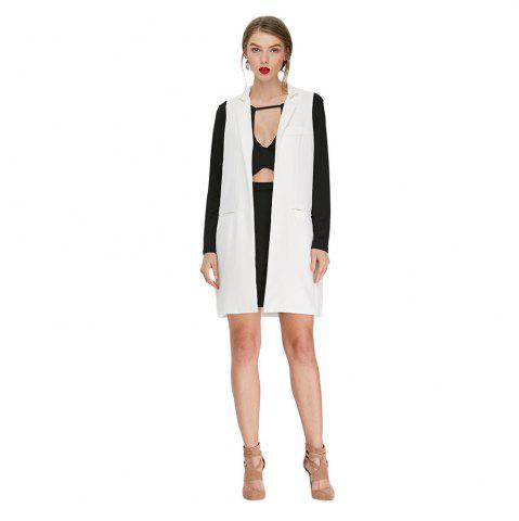 Fashion Stand Collar Faux Pocket Loose Suit