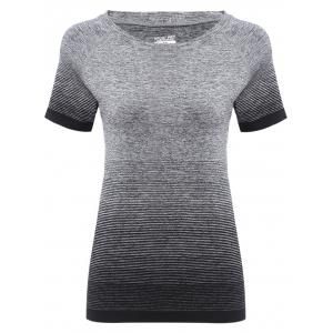 Raglan Short Sleeve Ombre Running Gym T-shirt