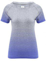 Raglan Short Sleeve Ombre Running T-shirt