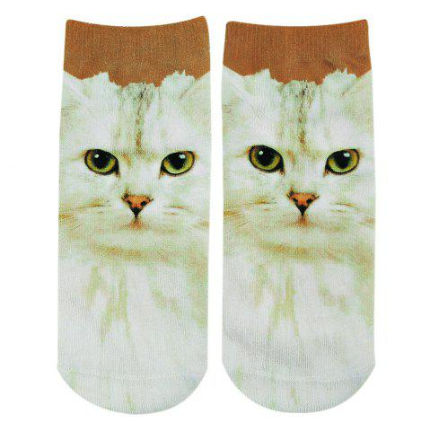 Hot Fashionable 3D Animal Print Cotton Socks for Unisex RED