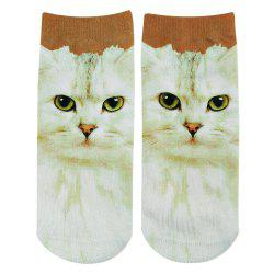 Fashionable 3D Animal Print Cotton Socks for Unisex -