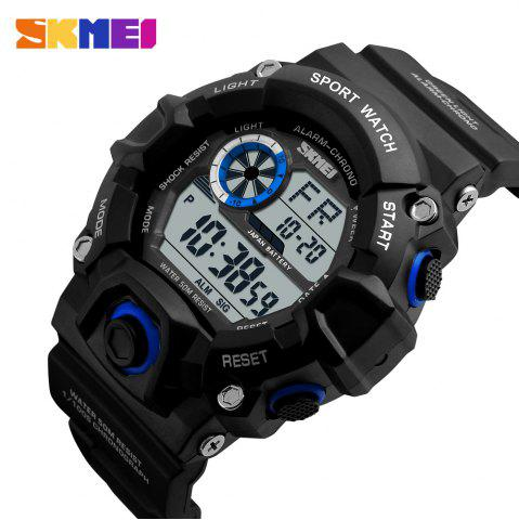 Fashion Skmei 1019 Military LED Watch Water Resistant Day Date Alarm Stopwatch Sports Wristwatch -   Mobile