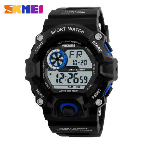 Unique Skmei 1019 Military LED Watch Water Resistant Day Date Alarm Stopwatch Sports Wristwatch -   Mobile
