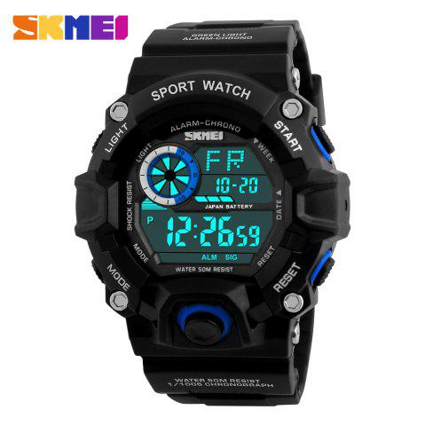 Buy Skmei 1019 Military LED Watch Water Resistant Day Date Alarm Stopwatch Sports Wristwatch -   Mobile