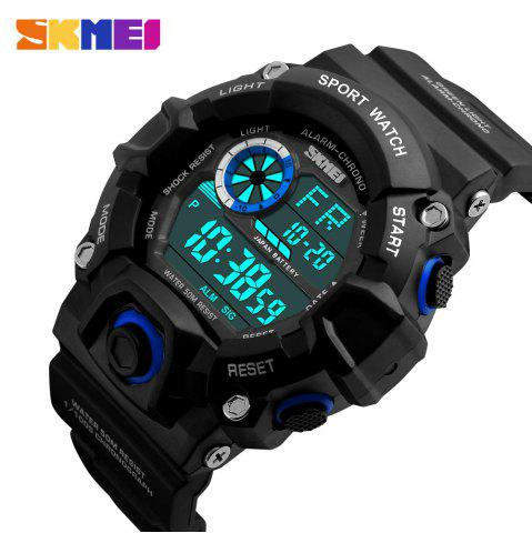 Shops Skmei 1019 Military LED Watch Water Resistant Day Date Alarm Stopwatch Sports Wristwatch -   Mobile