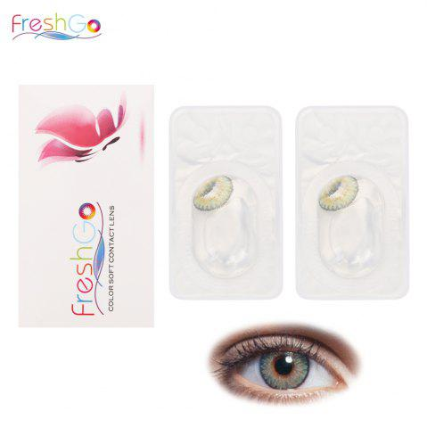 FreshGo Yearly Disposable 12 Color Pupil Contact Lenses BROWN