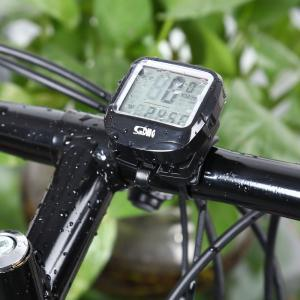 SunDing SD - 568AE Leisure Wired Bicycle Computer Water Resistant Cycling Odometer Speedometer with LCD Backlight -