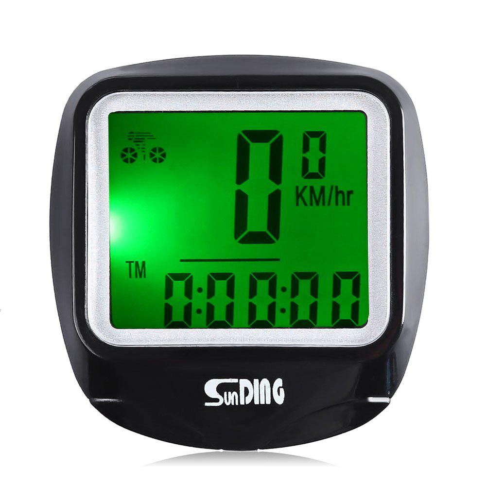 SunDing SD - 568AE Leisure Wired Bicycle Computer Water Resistant Cycling Odometer Speedometer with LCD BacklightHOME<br><br>Color: BLACK; Color: Black; Model Number: SD - 568AE; Stopwatch and Accessories: Wired Stopwatch;