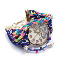 Women Quartz Watch Bike Pattern Bangle Fashion Wristwatch