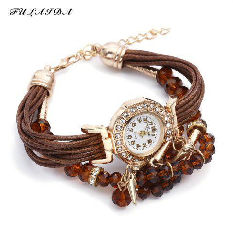 Buy FULAIDA Female Quartz Watch Rhinestone Bangle Fashion Wristwatch