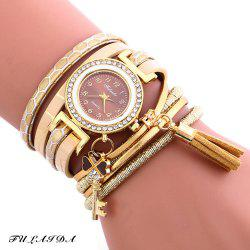 FULAIDA Female Quartz Watch Fringed Band Bangle Wristwatch