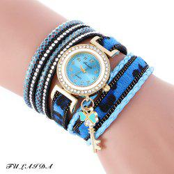 FULAIDA Female Quartz Watch Padlock Band Bangle Wristwatch