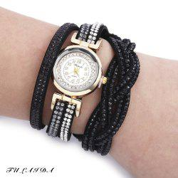 Fulaida Quartz Female Rhinestone Watch Fashion Bracelet Wristwatch Hand Decoration
