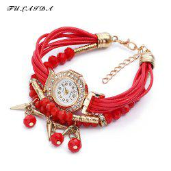 FULAIDA Female Quartz Watch Rhinestone Bangle Fashion Wristwatch