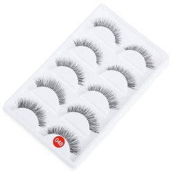 5 Pairs Hand Made Crossover Design Professional Thick Makeup Fake Eyelashes -