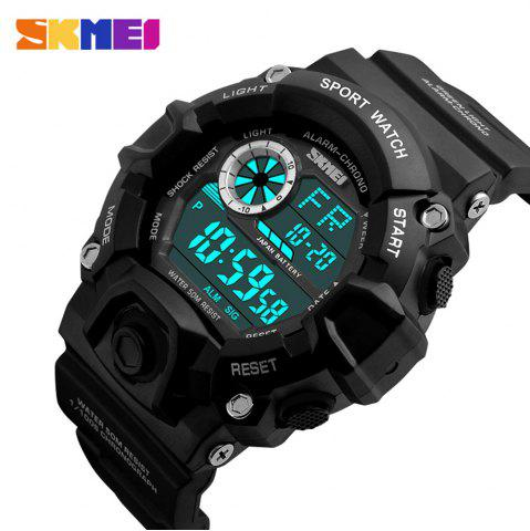 Chic Skmei 1019 Military LED Watch Water Resistant Day Date Alarm Stopwatch Sports Wristwatch -   Mobile