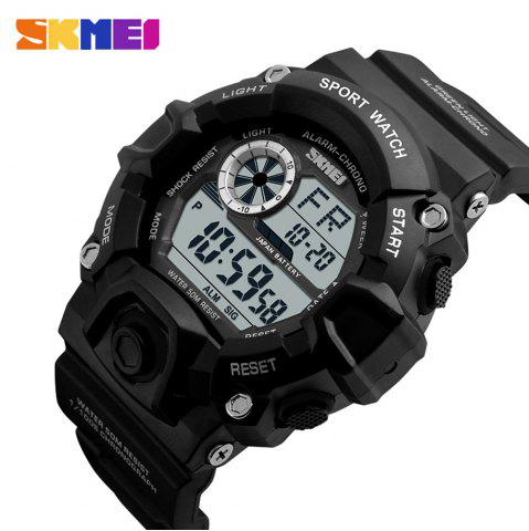 Sale Skmei 1019 Military LED Watch Water Resistant Day Date Alarm Stopwatch Sports Wristwatch -   Mobile
