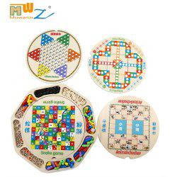 Muwanzi 16-in-1 Chinese Classic Wooden Chess Board Game Educational Intellectual Toys for Kids