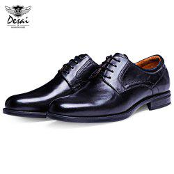 DESAI Business Pointed Toe Solid Color Leather Shoes for Men -