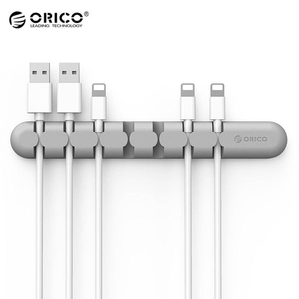 Outfit ORICO CBS7 Desktop Cable Storage Management Silicon Charger Wire Organizer Holder Clip
