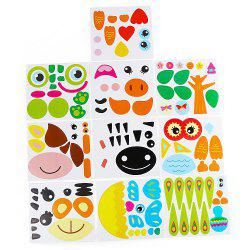 Cardboard Paper Plate Sticker Toy for Children