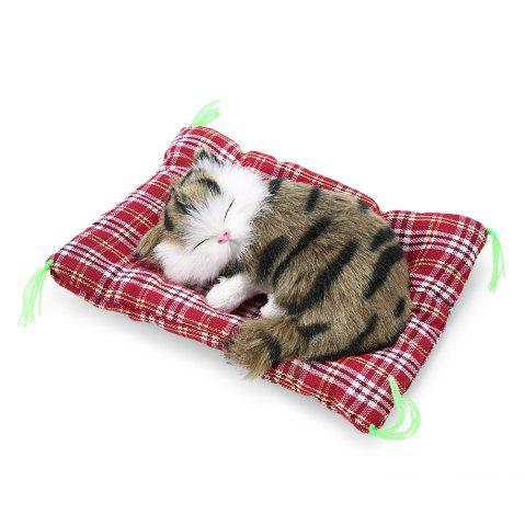 Simulation animal endormi Cat Toy Craft avec Sound IMPRINTE DE COULEUR D'HERBE
