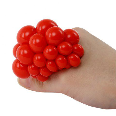 New Grape Vent Ball Stress Relief Squeezing Toy - RED  Mobile