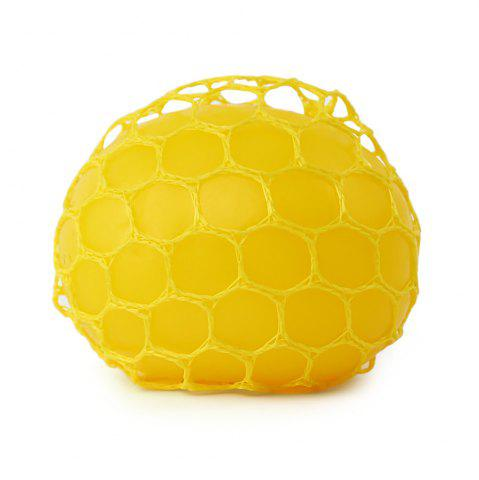 Trendy Grape Vent Ball Stress Relief Squeezing Toy - YELLOW  Mobile