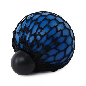 Mesh Grape Vent Ball Stress Relief Squeezing Toy - BLUE