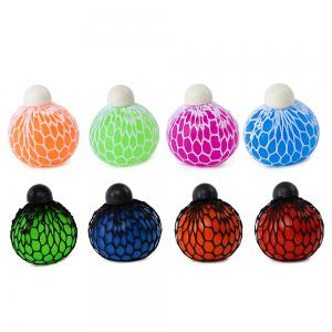 Mesh Grape Vent Ball Stress Relief Squeezing Toy - LIGHT PURPLE