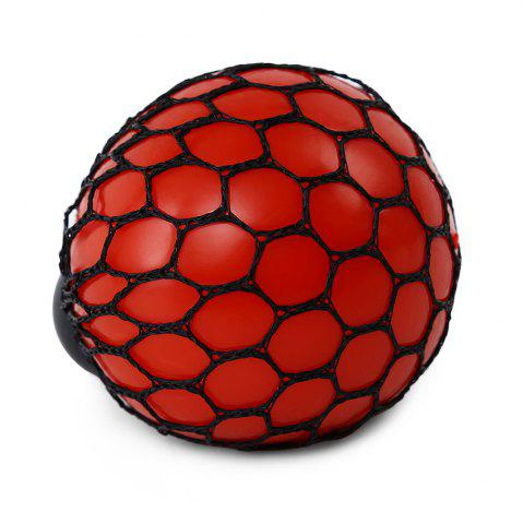Best Mesh Grape Vent Ball Stress Relief Squeezing Toy - RED  Mobile